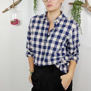 J.CREW Gingham Homespun perfect fit shirt blue